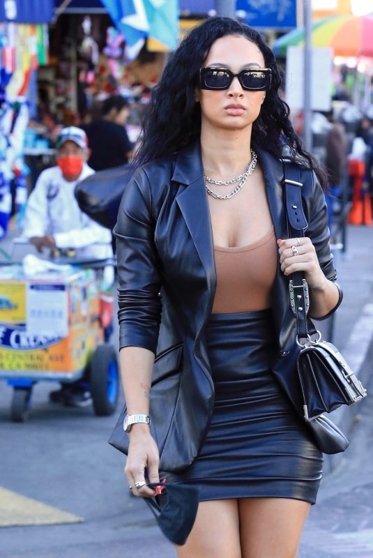 Draya Michele Puts on a leggy display as she is spotted in Downtown Los Angeles