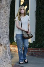 Elle Fanning Out shopping in West Hollywood