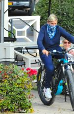 Ellen DeGeneres Out for a bike ride after having lunch with some friends in Santa Barbara