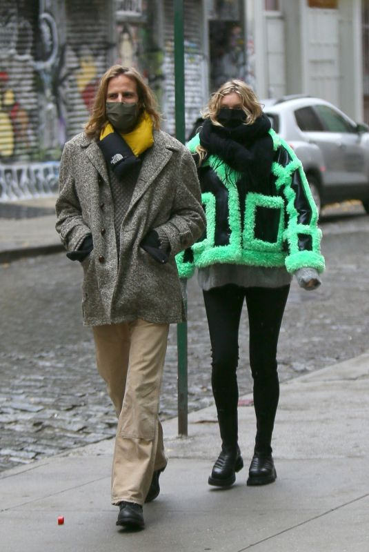 Elsa Hosk and Tom Daly look stylish as they are seen returning to their SoHo apartment after a stroll