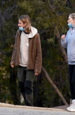 Elsa Hosk Shows her growing baby bump while hiking with partner Tom Daly in Los Angeles