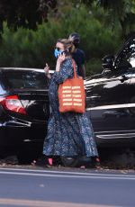 Emma Roberts Is seen heading to a friends house in Los Angeles