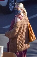Emma Roberts Makes a trip to her nearest FedEx in Los Angeles