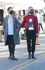Emma Slater With her dance pro husband Sasha Farber at the local farmers market on Sunday in Los Angeles