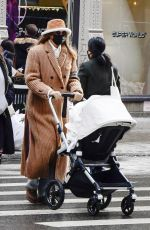 Gigi Hadid Steps out for an afternoon walk with her baby daughter in New York