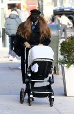 Gigi Hadid Takes her daughter out for a walk in New York City