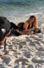 Hazel-E During a raunchy photoshoot in Mexico
