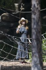 Isla Fisher Pictured with her kids at Dickson reserve in Sydney