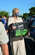 Ivanka Trump Delivers a box of with food and greets people during a Farmer to Families Food Box distribution in Miami