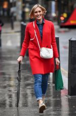 Jenni Falconer Pictured leaving Global Radio in London