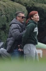 Jennifer Lawrence On the set of