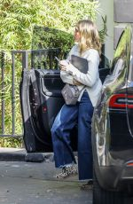 Jessica Alba Introduces her new platinum blonde hairdo while out in Los Angeles