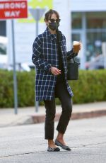 Jordana Brewster Out for a cold coffee in Brentwood