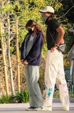 Kaia Gerber Debuts very long hair extensions while loved up with boyfriend Jacob Elordi in Malibu