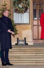 Kate Middleton At Members of the Royal Family Thank Volunteers and Key Workers at Windsor Castle in Windsor, England