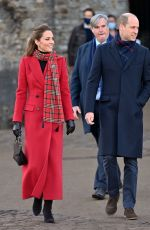 Kate Middleton Visits Cardiff Castle in Cardiff, Wales