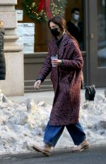 Katie Holmes At Christmas shopping in NYC