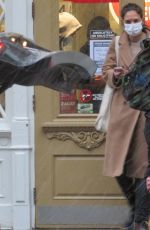 Katie Holmes Stops by Blick Art store in New York