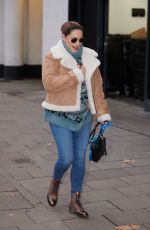 Kelly Brook Pictured wearing casuals arriving at Heart radio in London