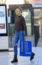 Kimberly Stewart Goes shopping at the container store in Los Angeles