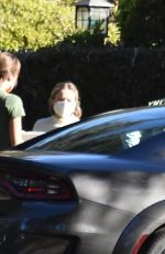 Kristen Bell Outside her home in Los Feliz