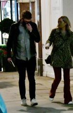Laura Whitmore Enjoy the easing of restrictions by going out for a meal with her boyfriend Iain Stirling in London