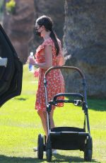 Lea Michele Out for an afternoon walk in Brentwood