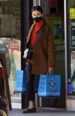 Lily Collins Getting food for Redford in West Hollywood