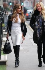 Lizzie Cundy Seen out with best friend Claire Cauldwell in Knightsbridge