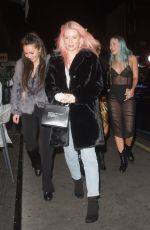 Lottie Moss Spotted arriving at Xier restaurant in London