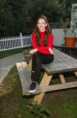 Mackenzie Foy Visiting the Hallmark Channel