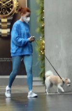 Madelaine Petsch Takes her dog for a quick walk before heading off to the gym in Vancouver