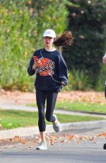 Margaret Qualley & Shia LaBeouf Heads out for a morning run in Pasadena