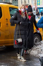 Martha Hunt Returning to her hotel after a photo shoot in New York City