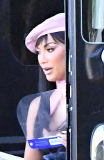 Nicole Scherzinger Gives a glimpse of her racy costume on the set of a music video with Luis Fonsi in Miami