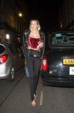 Olivia Attwood Pictured leaving MNKY House in Mayfair, London