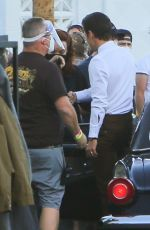"""Olivia Wilde Films a scene on the set of """"Don"""