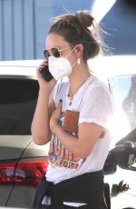 Olivia Wilde Stops by a gas station after a solo hike in Los Angeles