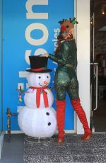 Phoebe Price Gets into the holiday spirit Christmas shopping in Hollywood