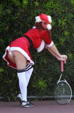 Phoebe Price Seen playing tennis in Los Angeles