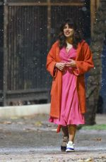 "Priyanka Chopra Filming romantic snowy scene for new romantic drama ""Text For You"" in London"