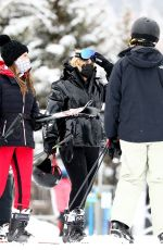 Rebel Wilson Wraps up a day of skiing in Aspen
