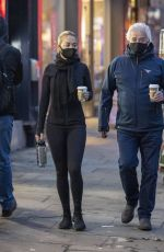 Rita Ora Leaving a coffee shop with her father in Kensington, London