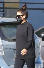 Shay Mitchell In Black leggings and sweater out in LA