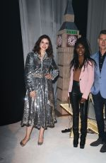 Sinitta and close friend Tim Vincent and Sophie Ellis Bexter film rehearsals for New Years Day Worldwide TV showcase