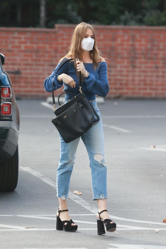 Sofia Vergara Gets some Christmas shopping done at Saks Fifth Avenue in Beverly Hills