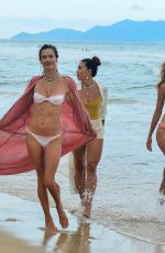 Alessandra Ambrosio Enjoys a sunny afternoon on the beach in Florianopolis, Brazil