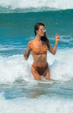 Alessandra Ambrosio In a bikini at the beach in Florianópolis