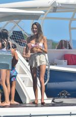 Alessandra Ambrosio In bikini on a yacht in Florianópolis