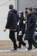 Alessia Cara Goes for a New Years Day walk with some friends in Toronto